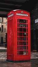 Red Dirty Telephone Box