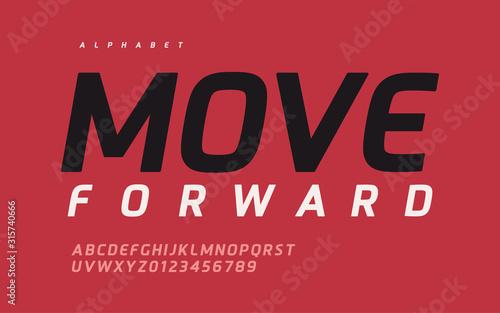 Obraz Vector modern stylish sans serif vector alphabet, font, typeface - fototapety do salonu