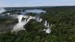 Iguazu - Drone shot from the Iguazua Waterfalls in Argentina/Brazil
