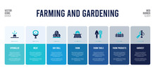 Web Banner Design With Farming And Gardening Concept Elements.