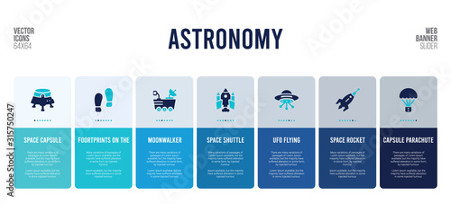 web banner design with astronomy concept elements.