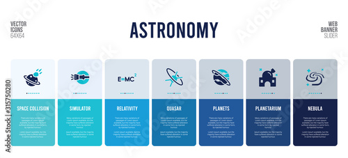 web banner design with astronomy concept elements. Wallpaper Mural