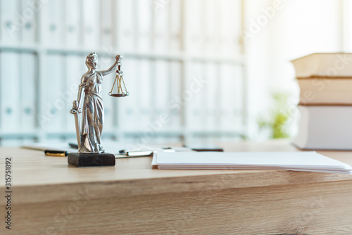 Fototapeta Lady Justice statue in law firm office obraz