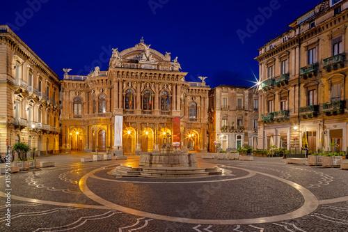 Fototapeta Catania - Theater - Teatro Massimo Bellini obraz