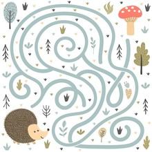 Help The Cute Hedgehog Find Th...
