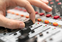 Close-up Of A Mixing Console, ...