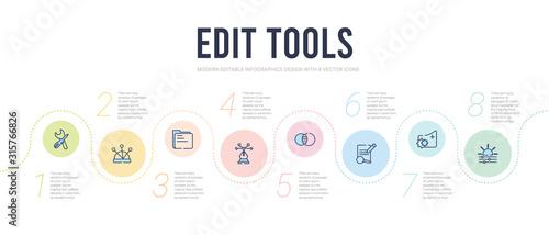 Obraz na plátně edit tools concept infographic design template
