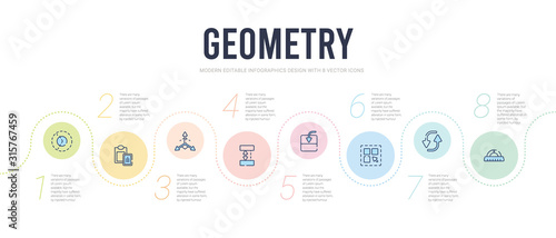 geometry concept infographic design template Canvas Print
