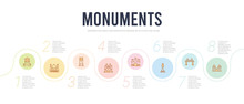 Monuments Concept Infographic ...