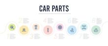 Car Parts Concept Infographic ...