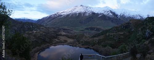 Hilly Landscape near Diamond Lake near Mount Aspiring National Park on the South Island of New Zealand Wallpaper Mural