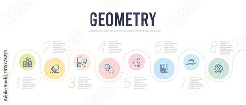 Photo geometry concept infographic design template