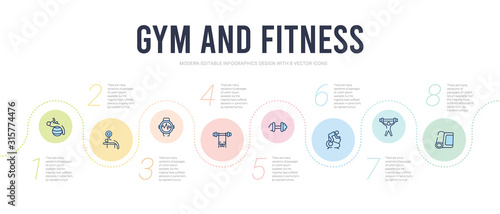 Leinwand Poster gym and fitness concept infographic design template