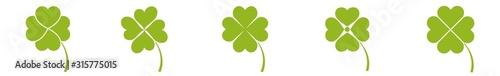 Fotomural  Shamrock Icon Green | Shamrocks | Four Leaf Clover | Irish Symbol | St Patrick's