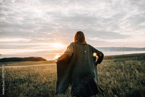 Happy lifestyle Woman outdoors portrait