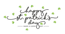 Happy St Patricks Day Handwrit...