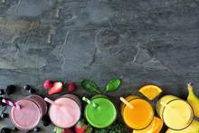 Assorted Healthy Fruit Smoothi...