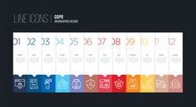 Infographic Design With 12 Opt...