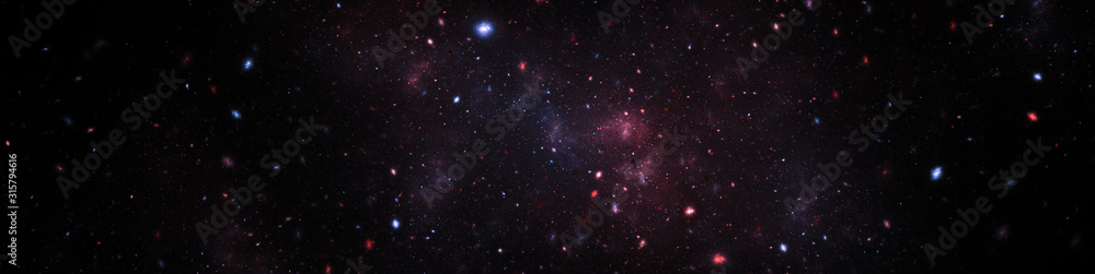 Fototapeta space texture illustration with stars and nebula