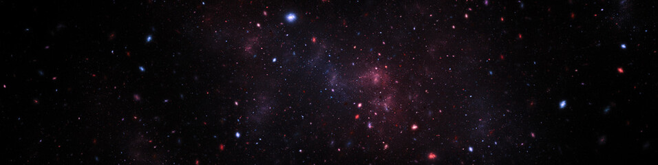 space texture illustration with stars and nebula