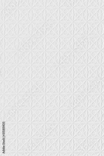 Fényképezés White stylish wallpaper, background texture