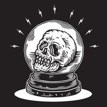 Skull Inside Crystal Ball