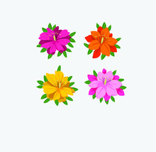 Azalea Flower Icon Vector Illustration
