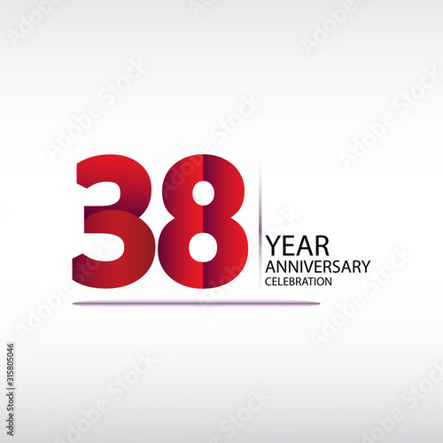 Papel de parede 38 years anniversary celebration logotype