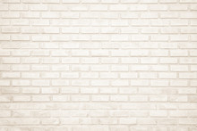 Background Of Wide Cream Brick...