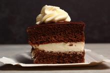 Cream Pie. Chocolate Sponge Ca...