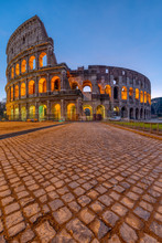 The Famous Colosseum In Rome A...