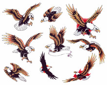 Eagle Oldskool Tattoo Set