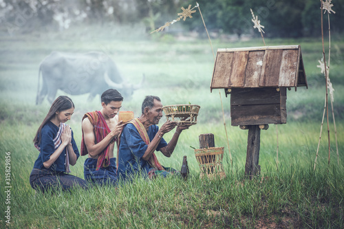 Fotografie, Obraz The traditional belief of Isan in Thailand, worship of Phi-Ta-Hak