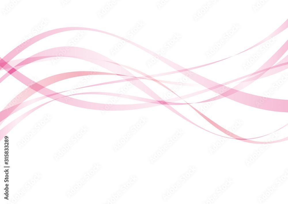 アブストラクト ウェーブ 曲線 ピンク