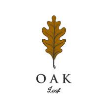 Oak Leaf Brown Autumn Vector I...