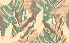 Tropical Leaves Seamless Patte...
