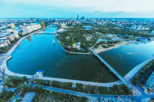 Capital of Kazakhstan Astana landscape Canvas Print