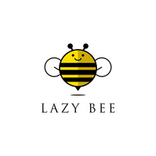 Lazy Bee Logo Design, Cute Ani...