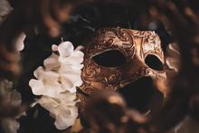 Venetian Mask On Black Backgro...