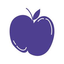 Apple Fresh Fruit Isolated Icon