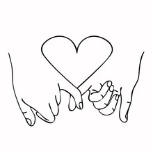 Promise  Outline Vector With  Heart Concept