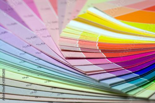 Fotomural Color print of pantone statistics offset scale