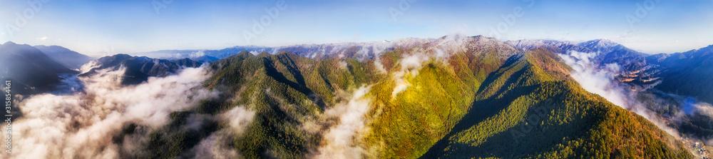 D JP Ohara Mts clouds sun pan