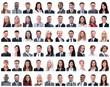 Leinwanddruck Bild - collage of successful modern businesswoman. isolated on white