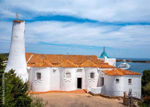Photo The Stella Maris church at Porto Cervo in Sardinia; Italy