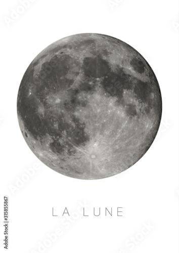 lune moon Fototapete