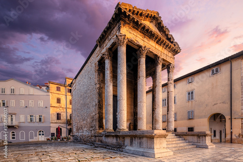 The ancient Temple of Augustus, Pula, Croatia. Canvas Print