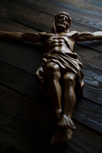 Cruciefied Jesus Figure Isola...
