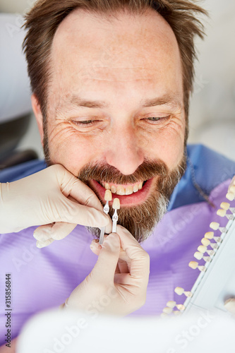 Patient in choosing the right tooth color #315856844
