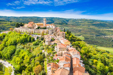 Beautiful Old Town Of Motovun,...